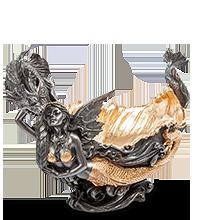Ваза 'ракушка с русалкой' 901896